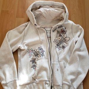Aeropostale embroidered zip hoodie